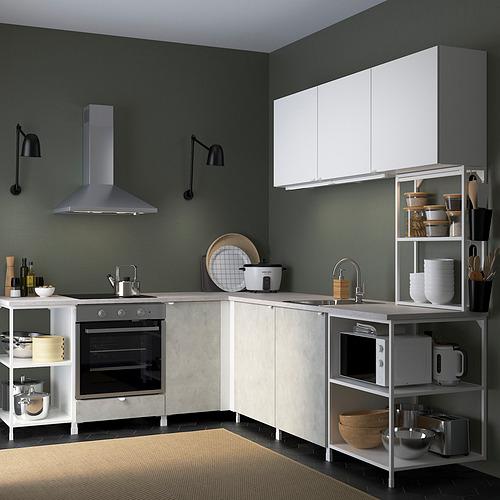 ENHET - 角位廚房, 白色/仿混凝土 白色   IKEA 香港及澳門 - PE819756_S4