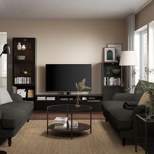 BESTÅ - 電視貯物組合/玻璃門, black-brown/Hanviken black-brown clear glass   IKEA 香港及澳門 - PE819841_S4