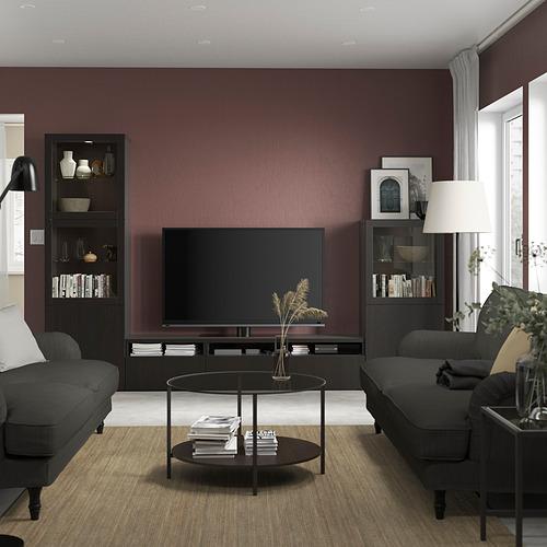 BESTÅ - 電視貯物組合/玻璃門, black-brown/Lappviken black-brown clear glass | IKEA 香港及澳門 - PE819827_S4