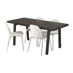 VÄSTANBY/VÄSTANÅ/LEIFARNE - 一檯四椅, 深褐色/白色 | IKEA 香港及澳門 - PE560315_S3