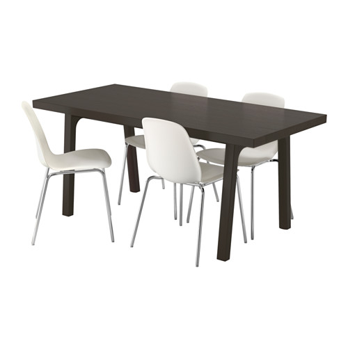 VÄSTANBY/VÄSTANÅ/LEIFARNE - table and 4 chairs, dark brown/white | IKEA Hong Kong and Macau - PE560315_S4
