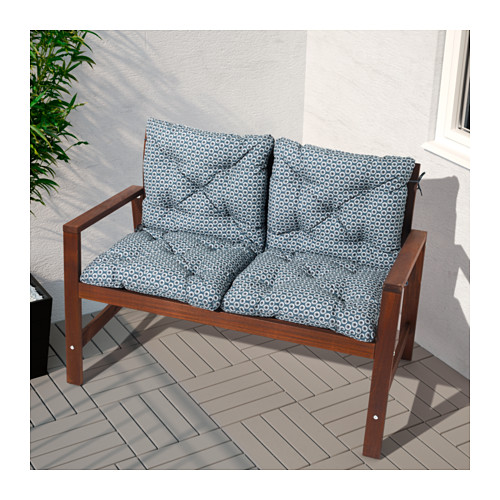 ÄPPLARÖ - bench with backrest, outdoor, brown stained | IKEA Hong Kong and Macau - PE625681_S4