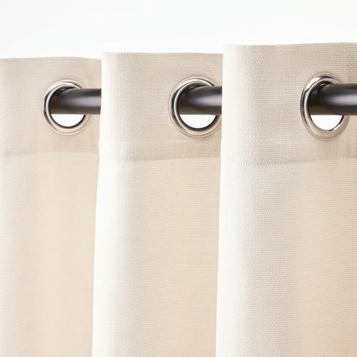 MOALINA - curtains, 1 pair, beige | IKEA Hong Kong and Macau - PE820037_S4