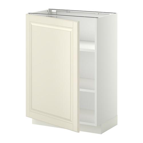METOD - base cabinet with shelves, white/Bodbyn off-white | IKEA Hong Kong and Macau - PE345191_S4