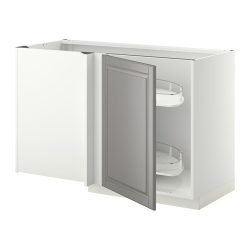 METOD - corner base cab w pull-out fitting, white/Bodbyn grey | IKEA Hong Kong and Macau - PE345388_S4
