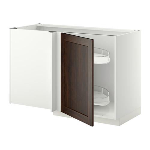 METOD - corner base cab w pull-out fitting, white/Edserum brown | IKEA Hong Kong and Macau - PE345389_S4