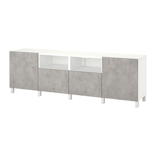 BESTÅ - 電視几連抽屜/門, white/Kallviken/Stubbarp light grey   IKEA 香港及澳門 - PE820150_S4