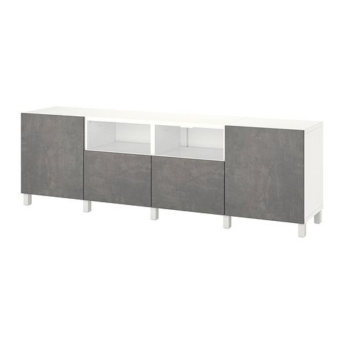 BESTÅ - 電視几連抽屜/門, white/Kallviken/Stubbarp dark grey | IKEA 香港及澳門 - PE820151_S4