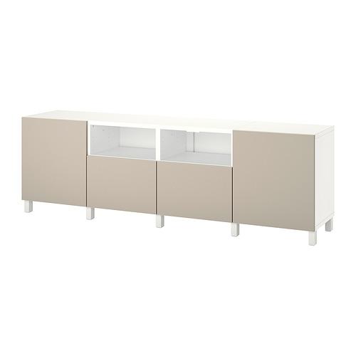 BESTÅ - 電視几連抽屜/門, white/Lappviken/Stubbarp light grey/beige   IKEA 香港及澳門 - PE820152_S4