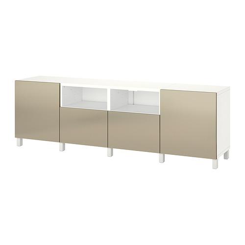 BESTÅ - 電視几連抽屜/門, white/Riksviken/Stubbarp light bronze effect | IKEA 香港及澳門 - PE820160_S4