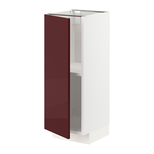 METOD - base cabinet with shelves, white Kallarp/high-gloss dark red-brown   IKEA Hong Kong and Macau - PE764893_S4
