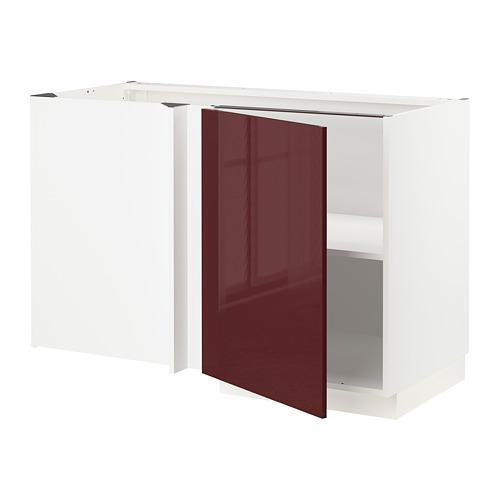 METOD - 角位地櫃連層板, 白色 Kallarp/光面 深紅褐色 | IKEA 香港及澳門 - PE764910_S4
