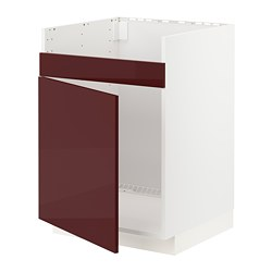 METOD - HAVSEN單星盆底櫃, white Kallarp/high-gloss dark red-brown | IKEA 香港及澳門 - PE765009_S3
