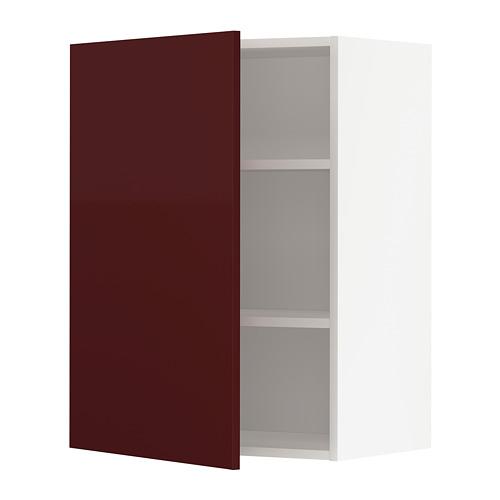 METOD - 吊櫃連層板, white Kallarp/high-gloss dark red-brown | IKEA 香港及澳門 - PE764926_S4
