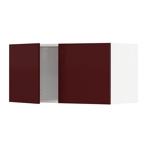 METOD - 雙門吊櫃, white Kallarp/high-gloss dark red-brown | IKEA 香港及澳門 - PE764928_S4