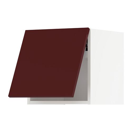 METOD - wall cabinet horizontal w push-open, white Kallarp/high-gloss dark red-brown | IKEA Hong Kong and Macau - PE764932_S4