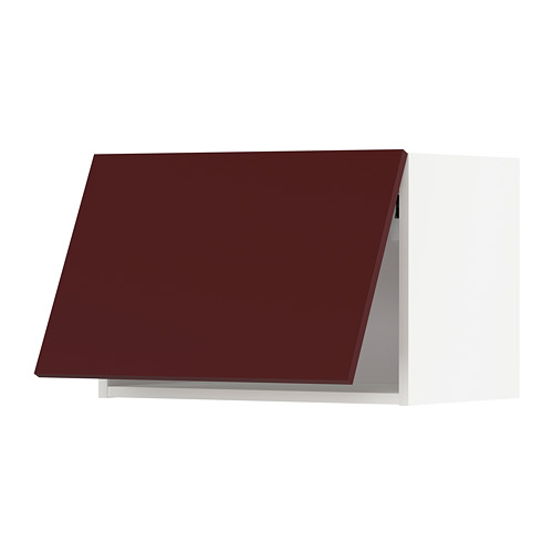 METOD - wall cabinet horizontal w push-open, white Kallarp/high-gloss dark red-brown | IKEA Hong Kong and Macau - PE764868_S4