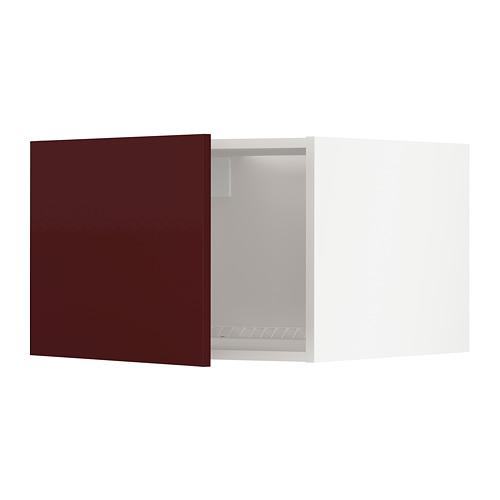 METOD - top cabinet to fridge/freezer, white Kallarp/high-gloss dark red-brown | IKEA Hong Kong and Macau - PE764958_S4