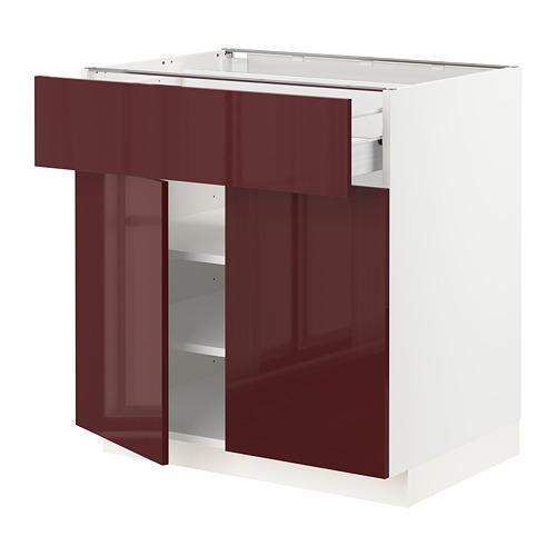 METOD/FÖRVARA base cabinet with drawer/2 doors