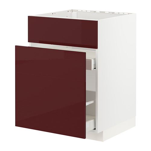 METOD/MAXIMERA base cab f sink+3 fronts/2 drawers