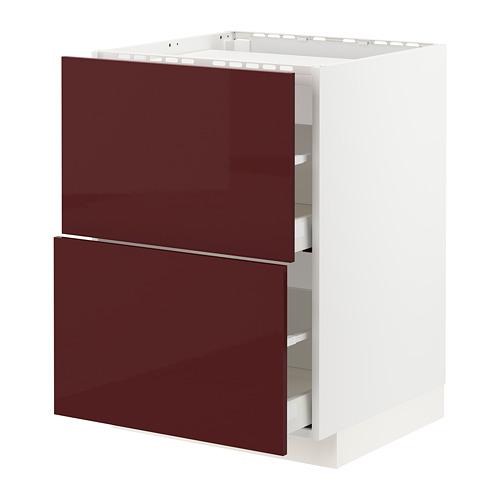 METOD/MAXIMERA base cab f hob/2 fronts/2 drawers