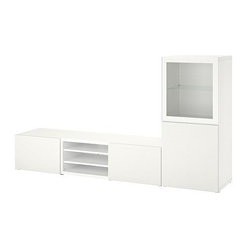 BESTÅ - 電視貯物組合/玻璃門, white Glassvik/Laxviken white | IKEA 香港及澳門 - PE820304_S4