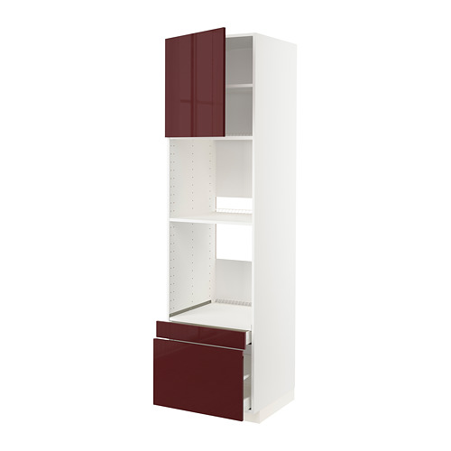 MAXIMERA/METOD 焗爐用高櫃連抽屜櫃門組合