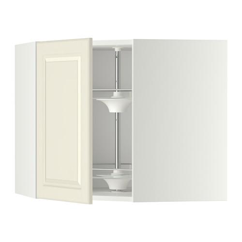 METOD - corner wall cabinet with carousel, white/Bodbyn off-white | IKEA Hong Kong and Macau - PE346148_S4