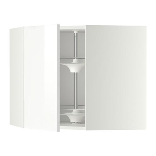 METOD - corner wall cabinet with carousel, white/Ringhult white | IKEA Hong Kong and Macau - PE346156_S4