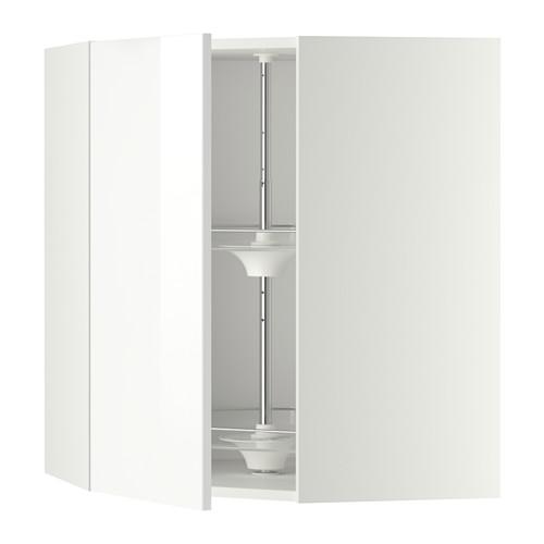 METOD - corner wall cabinet with carousel, white/Ringhult white | IKEA Hong Kong and Macau - PE346204_S4