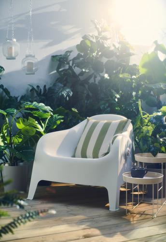 HILDAMARIA - cushion cover, green natural/striped | IKEA Hong Kong and Macau - PH176545_S4