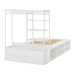 PLATSA - 床架連4個抽屜, 白色/Fonnes | IKEA 香港及澳門 - PE766211_S3