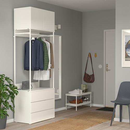 PLATSA - 雙門衣櫃連3格抽屜, 白色/Fonnes 白色 | IKEA 香港及澳門 - PE766210_S4