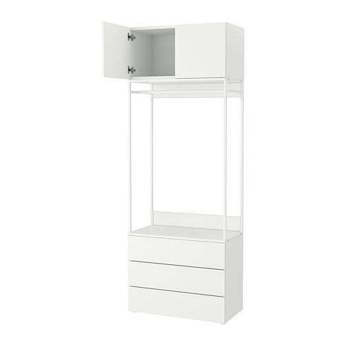 PLATSA - 雙門衣櫃連3格抽屜, 白色/Fonnes 白色 | IKEA 香港及澳門 - PE766215_S4
