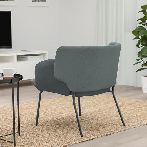 BINGSTA - 扶手椅, Vissle 深灰色/Kabusa 深灰色 | IKEA 香港及澳門 - PE765308_S4