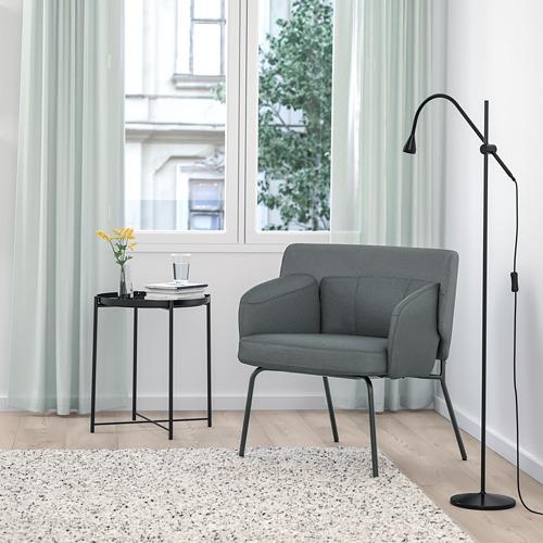 BINGSTA - 扶手椅, Vissle 深灰色/Kabusa 深灰色 | IKEA 香港及澳門 - PE765309_S4