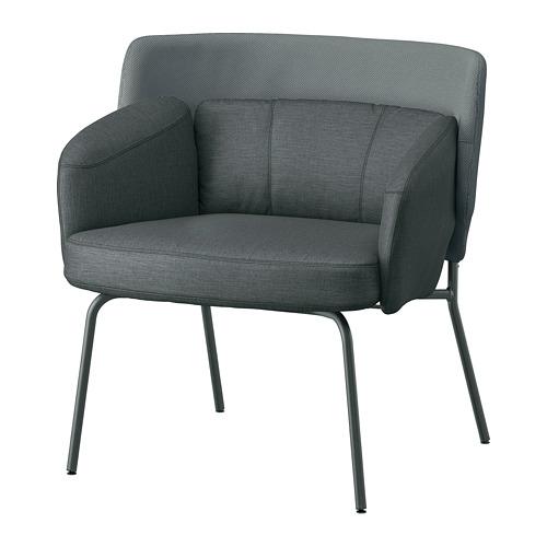 BINGSTA - 扶手椅, Vissle 深灰色/Kabusa 深灰色 | IKEA 香港及澳門 - PE765307_S4