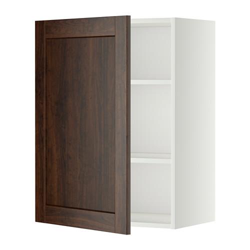 METOD - 吊櫃連層板, 白色/Edserum 褐色   IKEA 香港及澳門 - PE345708_S4