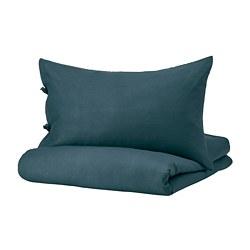 PUDERVIVA - 被套枕袋套裝, 深藍色, 150x200/50x80 cm    IKEA 香港及澳門 - PE766033_S3