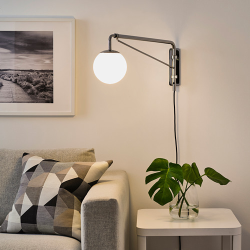 SIMRISHAMN wall lamp with swing arm