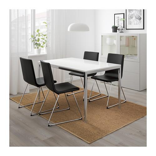 TORSBY - table, chrome-plated/high-gloss white | IKEA Hong Kong and Macau - PE675379_S4