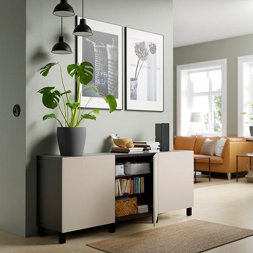 BESTÅ - 貯物組合連門, black-brown/Lappviken/Stubbarp light grey-beige   IKEA 香港及澳門 - PE820785_S4