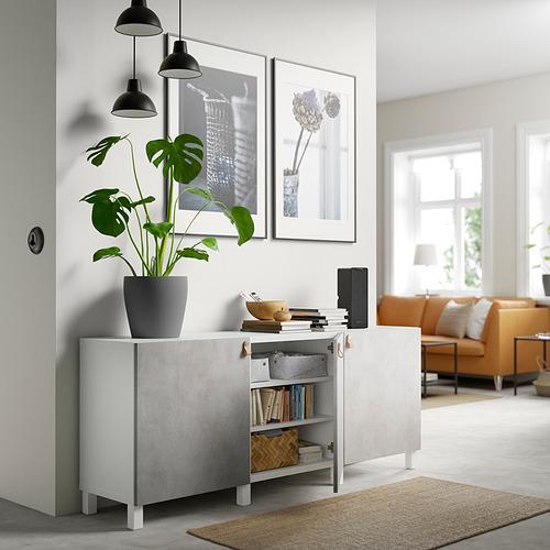 BESTÅ - 貯物組合連門, white Kallviken/Stubbarp/light grey concrete effect | IKEA 香港及澳門 - PE820740_S4