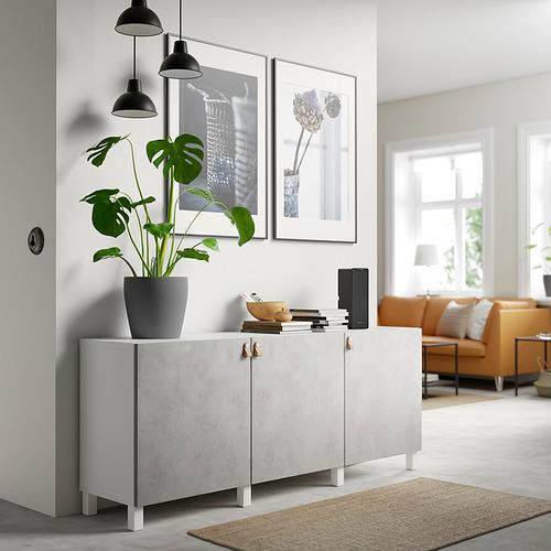 BESTÅ - 貯物組合連門, white Kallviken/Stubbarp/light grey concrete effect | IKEA 香港及澳門 - PE820770_S4