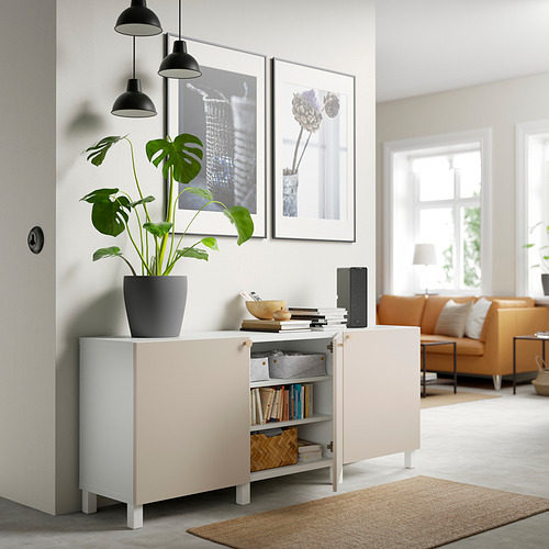 BESTÅ - 貯物組合連門, white/Lappviken/Stubbarp light grey-beige | IKEA 香港及澳門 - PE820758_S4