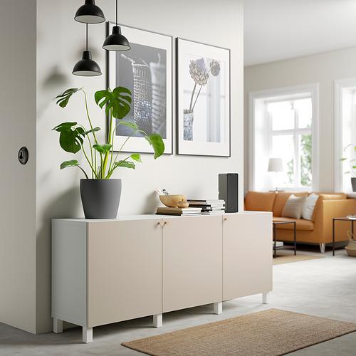 BESTÅ - 貯物組合連門, white/Lappviken/Stubbarp light grey-beige | IKEA 香港及澳門 - PE820802_S4