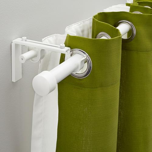 HUGAD/RÄCKA - 雙窗簾桿組合, 白色 | IKEA 香港及澳門 - PE336650_S4