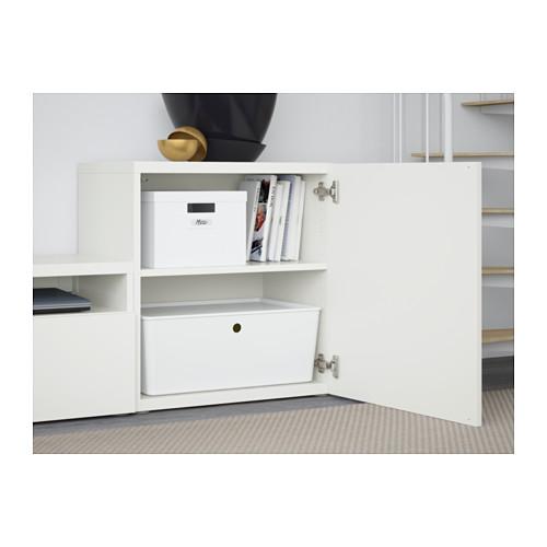 BESTÅ - TV storage combination/glass doors, Lappviken/Sindvik white clear glass | IKEA Hong Kong and Macau - PE560848_S4