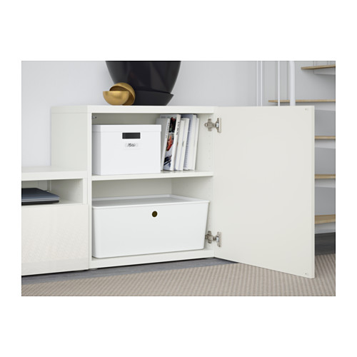 BESTÅ - TV storage combination/glass doors, white/Selsviken high-gloss/white frosted glass | IKEA Hong Kong and Macau - PE560890_S4