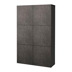 BESTÅ - 貯物組合連門, 棕黑色 Kallviken/深灰色 仿混凝土 | IKEA 香港及澳門 - PE626772_S3